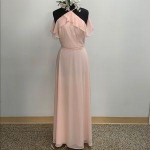 SAMPLE Bill Levkoff shell pink formal dress
